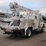 Commercial truck derrick attachment
