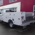 White service truck body