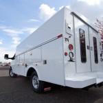 Service truck with doors