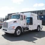 White Truck Service Crane