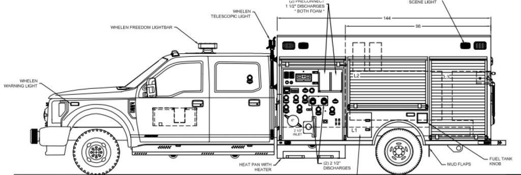 Fast-Response F550 Mini Pumper