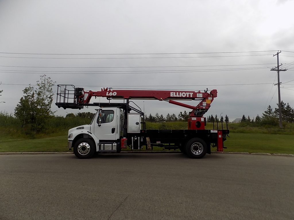 Work Ready Elliott HiReach L60R on Freightliner M2 106